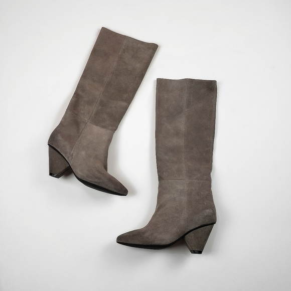 2a6cf072cc78 Jeffrey Campbell Shoes - Jeffrey Campbell Taupe Senita Over-the-Knee Boot